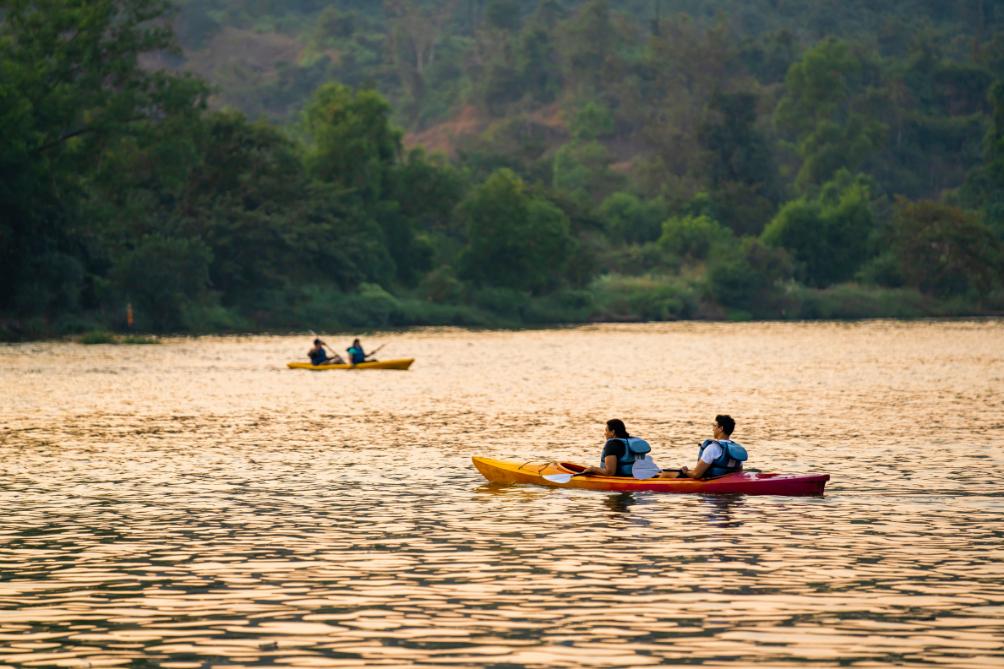 Kayaking near Zostel Kolad, Maharashtra