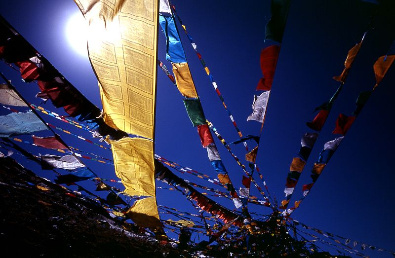 Tibetan prayer flags in Mussoorie Uttarakhand