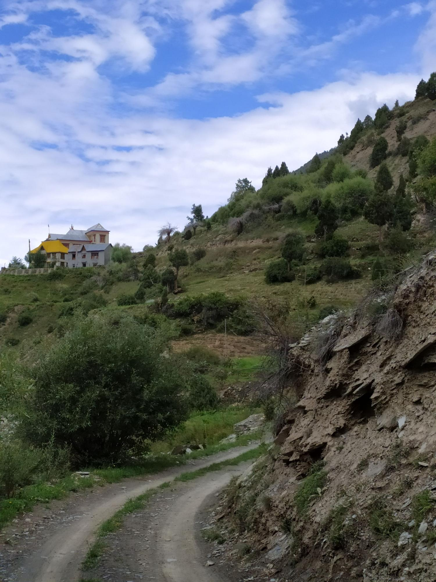 Othang Gompa, the biggest monastery of Lahaul Valley, Himachal Pradesh