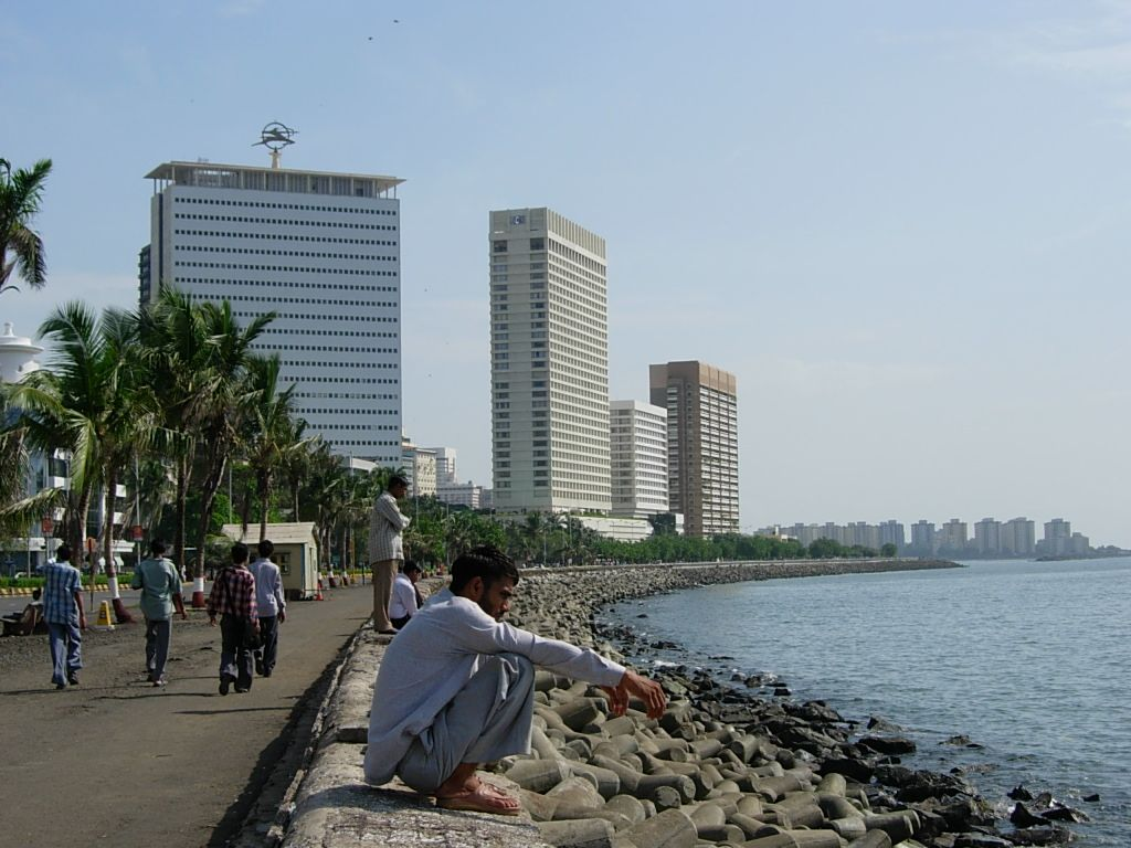 Nariman Point is a famous tourist attraction in Mumbai.