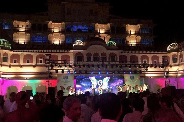 City Palace Jaipur on Holi.