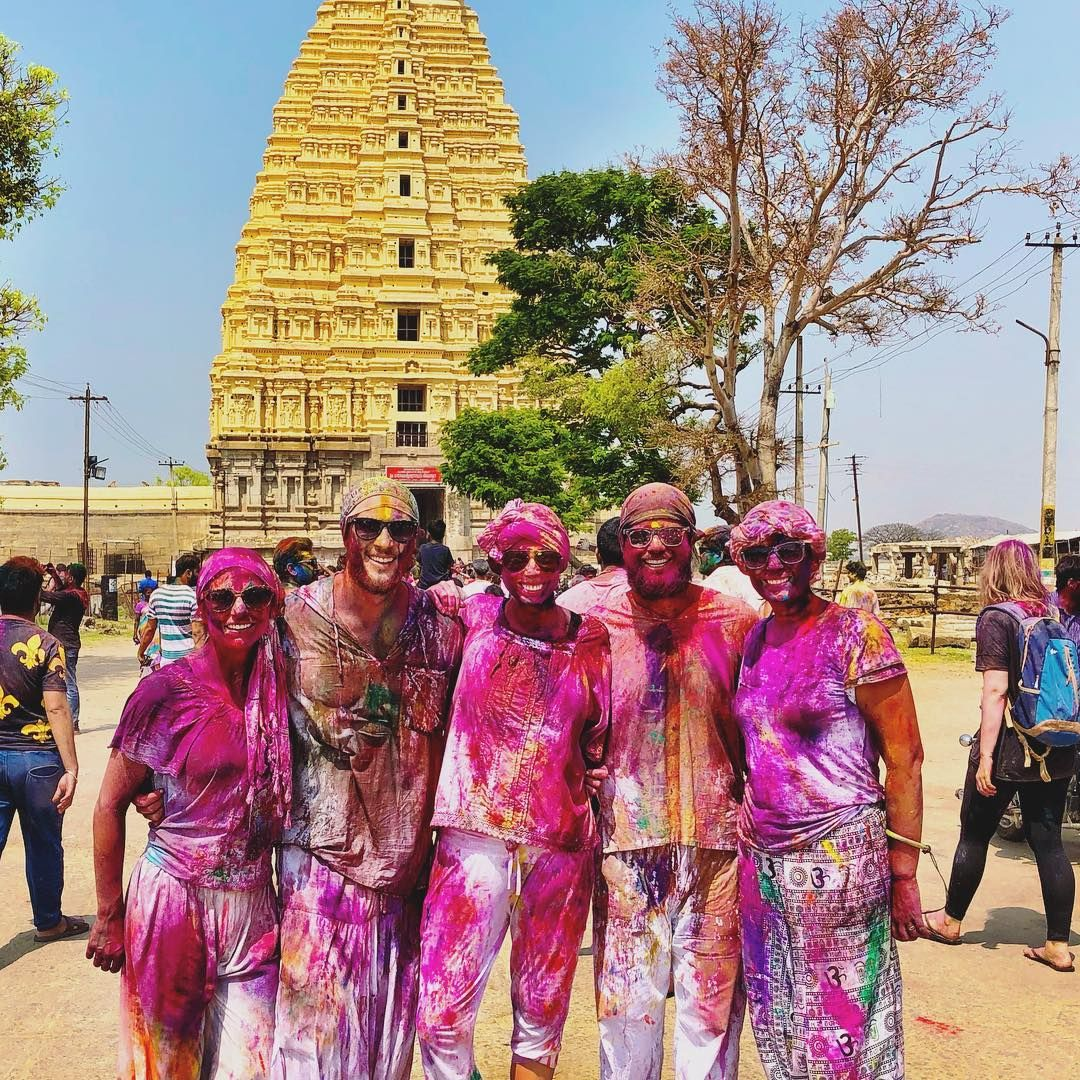Hampi celebrates Holi with a lot of enthusiasm down South.