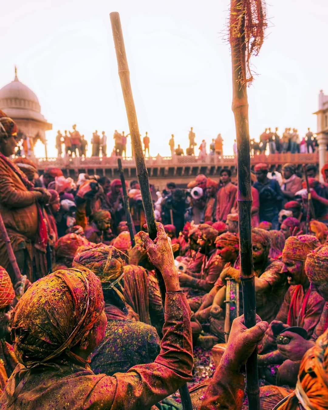 Mathura comes to life during Holi.