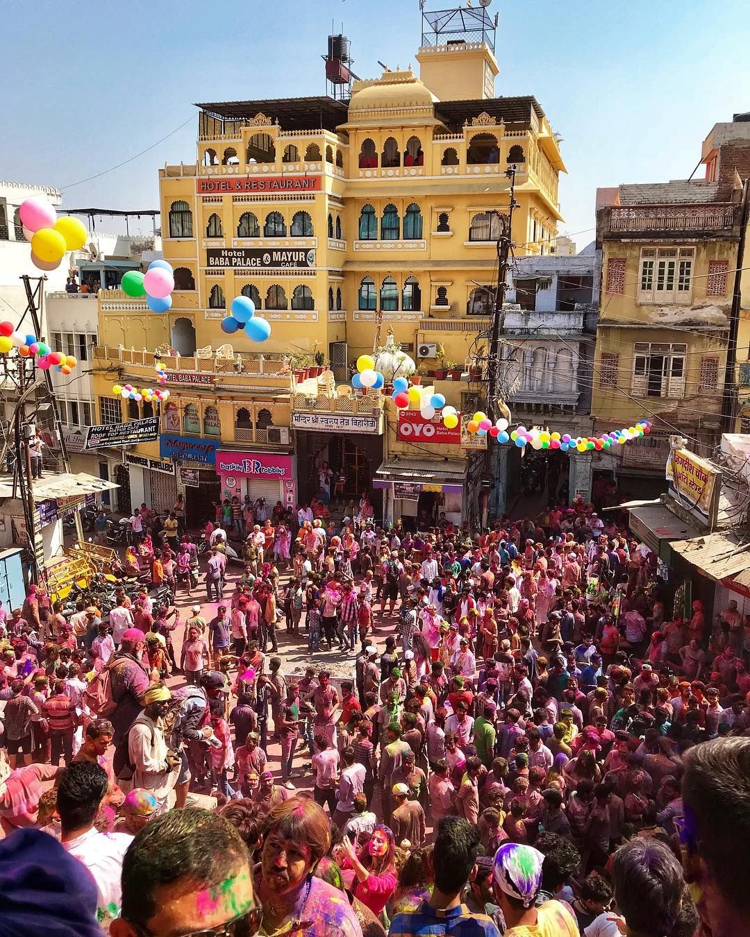 City-wide celebrations in Udaipur.