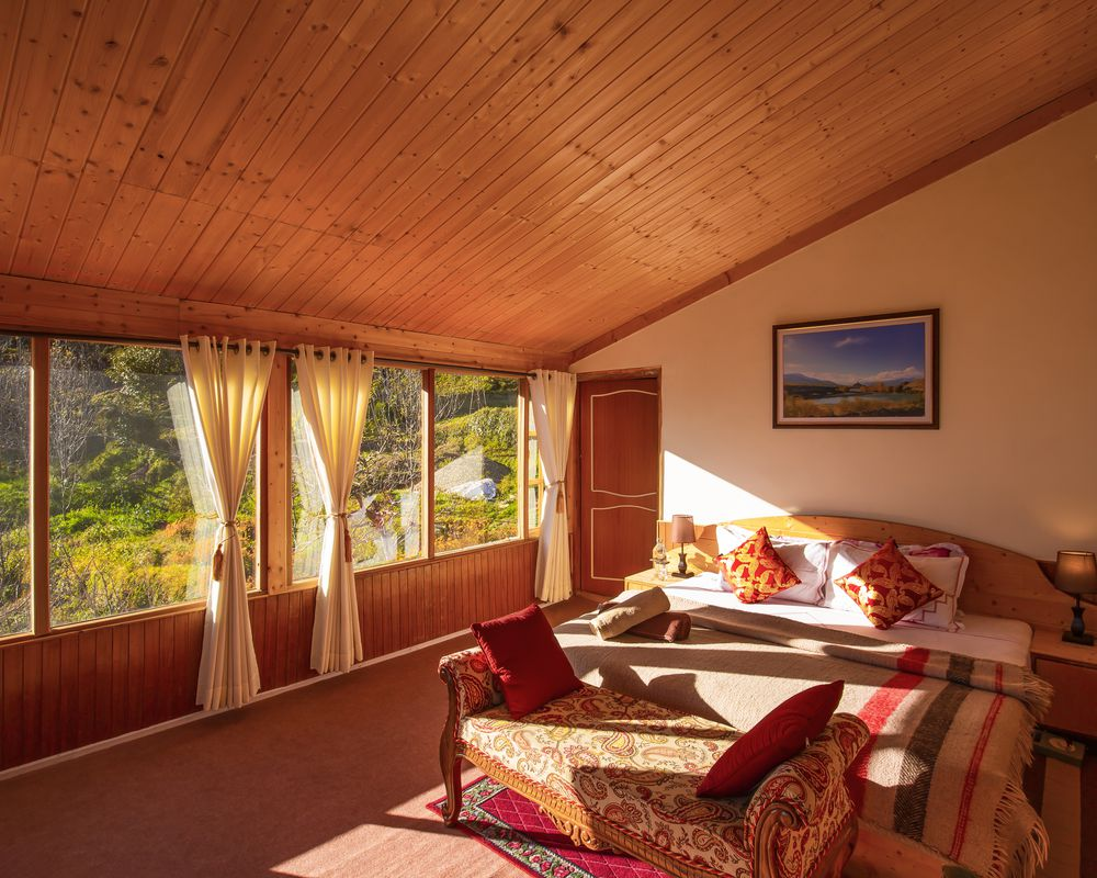 Another interior shot of our room in homestay at Kotgarh Shimla