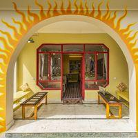 Entrance to common area of Srinagar hostel