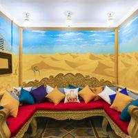Cosy common area seating in Zostel Jaisalmer