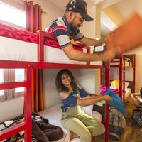 Our dorm rooms invite you to hang out & make new friends.
