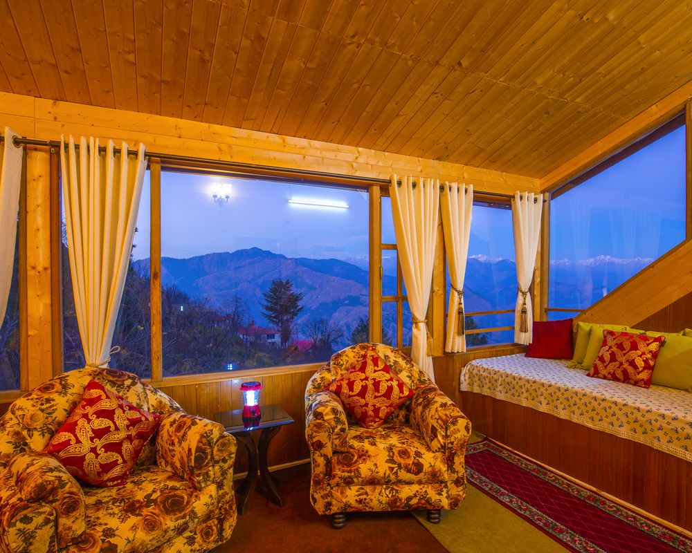 Magnificient interiors of ZostelX Kotgarh room