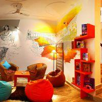 A reading area to laze out & get lost in a book.