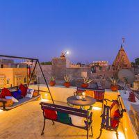 Rooftop lounge of Zostel Jaisalmer