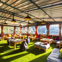 Comfortable activity area of our hostel near Nainital