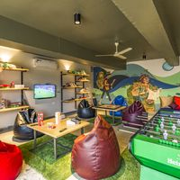 Foosball table, board games, TV, Bean bags in Zostel Panchgani common room