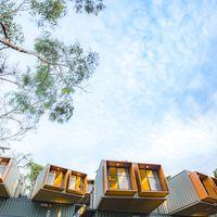 View of our Containers hostels in Panchgani