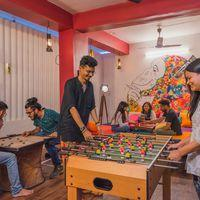 Foosball and Carrom in the common room of Jodhpur hostel