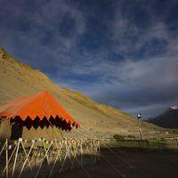 Swiss tent exterior shot