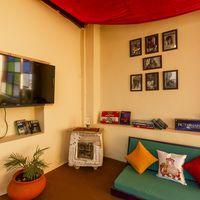 Common room of our Jaisalmer hostel