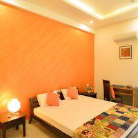 The uber-spacious and colourful private room