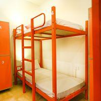 The mixed dorm with personal lockers