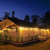 Beautiful sunset at our hostel in Coorg