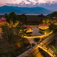 The view of Zostel Pokhara from the rooftop.