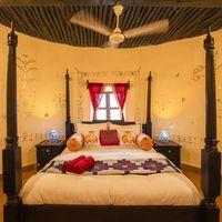Private room at our hostel in Jaisalmer
