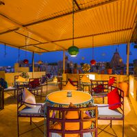 Rooftop Seating area in Zostel Jaisalmer