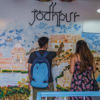 Hand drawn city map of Jodhpur in our hostel