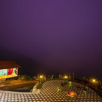 Bonfire area in Zostel Vagamon