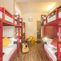 The spacious 6-bed dorm.