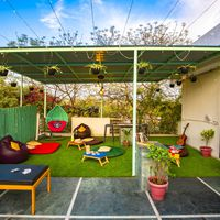 Rooftop of our hostel in south delhi to relax
