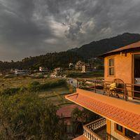 The view of the Pokhara Valley from the rooftop.