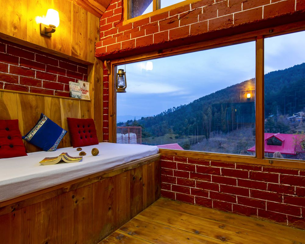 Luxury room of our homestay in Cheog, Shimla