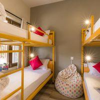 The cosy ensuite 4-bed female dorm.