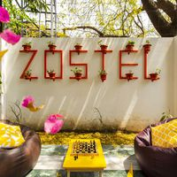 Outdoor hangout Zone at Zostel South Delhi