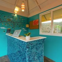 Reception desk at Zostel Vagamon