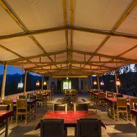 Leh Hostel cafe  at evening time