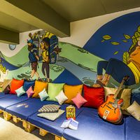 Common room of Zostel Panchgani