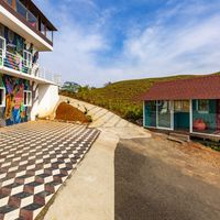 Facade of our backpacker hostel in Vagamon