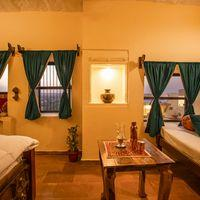 Beautiful interiors of private room in Jaisalmer Zostel