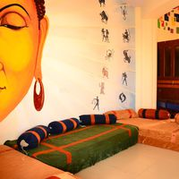 Common area with buddha wall art